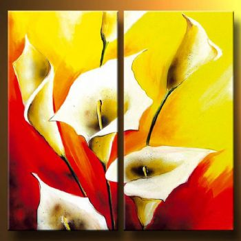 In The Fire Glow-Modern Canvas Art Wall Decor-Floral Oil Painting Wall Art