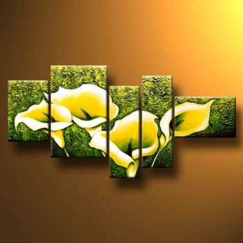 5-pcs Floral Canvas Wall Art : Cheap Oil Paintings|Paintings for ...