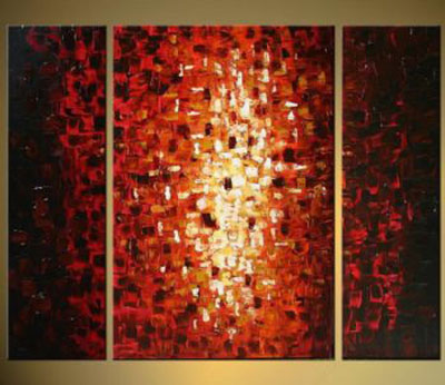 Into The Light-Modern Canvas Abstract Oil Painting Wall Art with Stretched Framed Ready to Hang