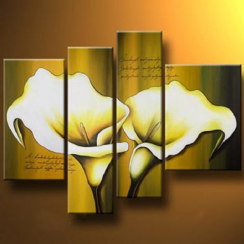 Ladylike Callas-Modern Canvas Art Wall Decor-Floral Oil Painting Wall Art with Stretched Frame Ready to Hang
