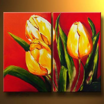 Language Of Flowers-Modern Canvas Art Wall Decor-Floral Oil Painting ...