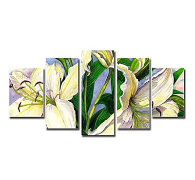 Lily-Modern Canvas Art Wall Decor-Floral Oil Painting Wall Art with Stretched Frame Ready to Hang