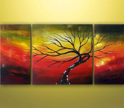 Love In The World-Modern Canvas Art Wall Decor-Landscape Oil ...