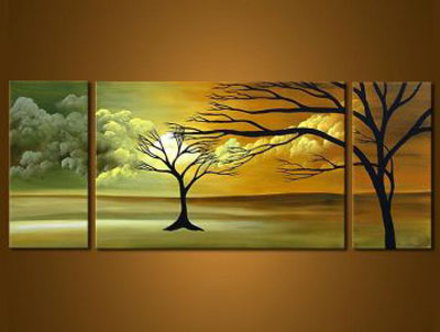 Love Me Closer II-Modern Canvas Art Wall Decor-Landscape Oil Painting Wall Art with Stretched Frame Ready to Hang