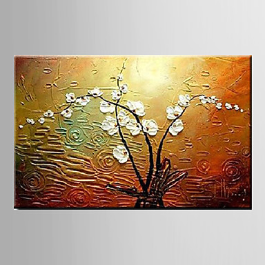 Magnolia Denudata Flower-Modern Canvas Art Wall Decor-Floral Oil Painting Wall Art with Stretched Frame Ready to Hang
