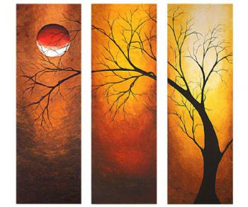 Midnight Rise-Modern Canvas Oil Painting Wall Art with Stretched Frame Ready to Hang