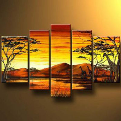 Mountains On The Horizon-Modern Canvas Art Wall Decor-Landscape Oil ...