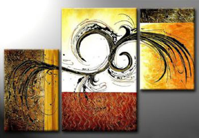 My Thought-Modern Canvas Art Wall Decor-Abstract Oil Painting Wall Art with Stretched Frame Ready to Hang