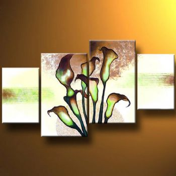 Mysterious Bouquet-Modern Canvas Art Wall Decor-Floral Oil Painting Wall Art with Stretched Frame Ready to hang