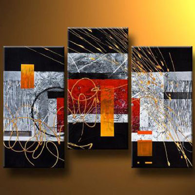 Noise-Modern Canvas Art Wall Decor-Abstract Oil Painting Wall Art with Stretched Frame Ready to Hang