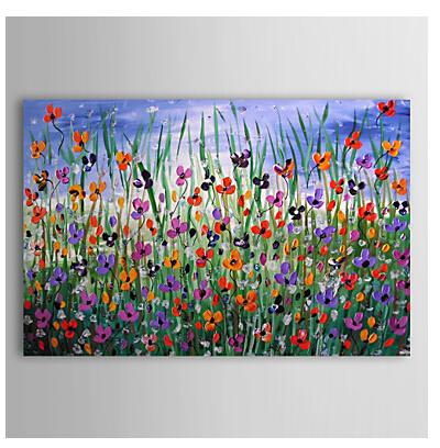 Hand Painted Oil Painting Floral Canvas Wall Art for Home Decor with Stretched Frame Ready to Hang
