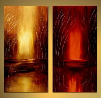 Parallel Dreams Abstract Canvas Oil Painting Wall Art with Stretched Frame Ready to Hang