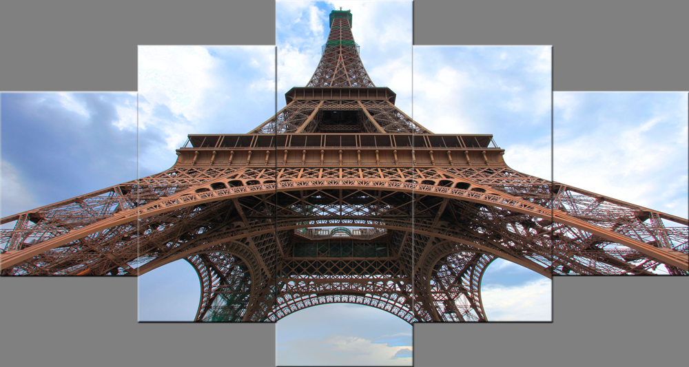 Paris Eiffel Tower Paintings Wall Art Canvas Prints Pictures Paintings on Canvas Stretched and Framed Ready to Hang