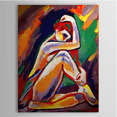 People Nude-Women Oil Painting Wall Art-Modern Canvas Art Wall Decor