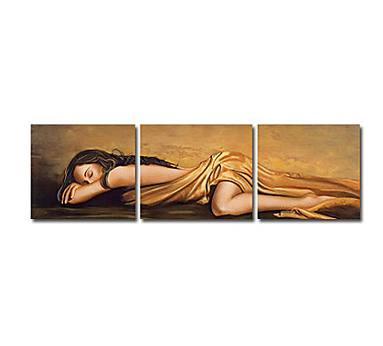 People Sexy Sleeping-Oil Painting Wall Art-Modern Canvas Art Wall Decor with Stretched Frame Ready to Hang