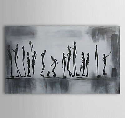 People Playtime-People Oil Painting Wall Art-Modern Canvas Art Wall Decor with Stretched Frame Ready to Hang