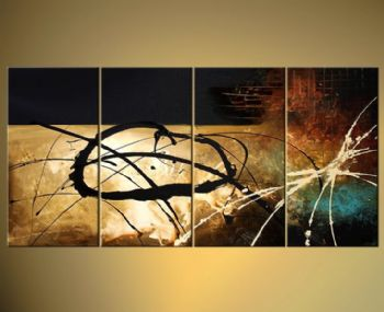 Abstract Wall Decor points of departure-modern canvas art wall decor-abstract oil