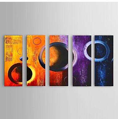 Hand Painted Abstract Oil Paintings with Stretched Frame Ready To Hang OFD023