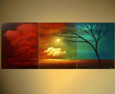 Reaching For Something In The Distance III-Modern Canvas Art Wall Decor-Landscape Oil Painting Wall Art with Stretched Frame