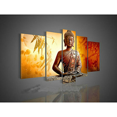 Religion Buddha 2-Modern Canvas Art Wall Decor-Abstract Oil Painting Wall Art with Stretched Frame Ready to Hang