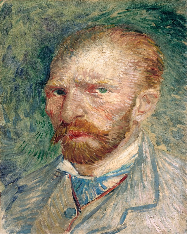 Vincent Van Gogh Self-portrait 1887 Wall Art Canvas Print Stretched Frame Ready to Hang