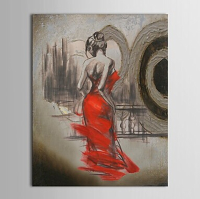 Semi-Nude Dancing Girl-Dancer Oil Painting Wall Art-Modern Canvas Art Wall Decor With Stretched and Framed Ready to Hang