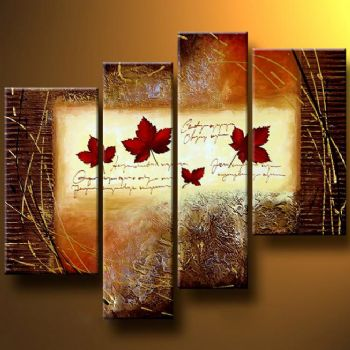 September-Modern Canvas Art Wall Decor-Abstract Oil Painting Wall Art with Stretched Frame Ready to Hang