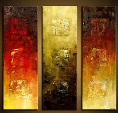 Silent-Modern Canvas Art Wall Decor-Abstract Oil Painting Wall Art with Stretched Frame Ready to Hang