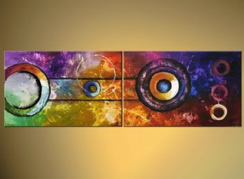 Sirens Of Titan Modern Canvas Abstract Oil Painting Wall Art with Stretched Frame Ready to hang