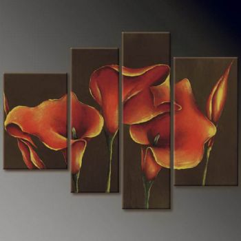 Sober-Modern Canvas Art Wall Decor-Floral Oil Painting Wall Art with Stretched Frame Ready to Hang