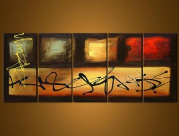 The Best And The Rest-Modern Canvas Art Wall Decor-Abstract Oil Painting Wall Art with Stretched Frame Ready to Hang