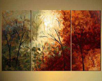 The Door Into Sumner-Modern Canvas Art Wall Decor-Landscape Oil Painting Wall Art with Stretched Frame Ready to Hang