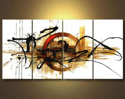 The Fifth Planet-Modern Canvas Art Wall Decor-Abstract Oil Painting Wall Art with Stretched Frame Ready to Hang
