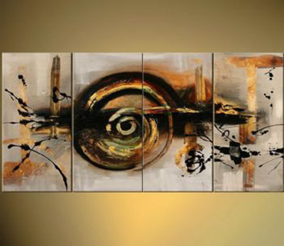 The Last Mohican-Modern Canvas Art Wall Decor-Abstract Oil Painting Wall Art with Stretched Frame Ready to Hang