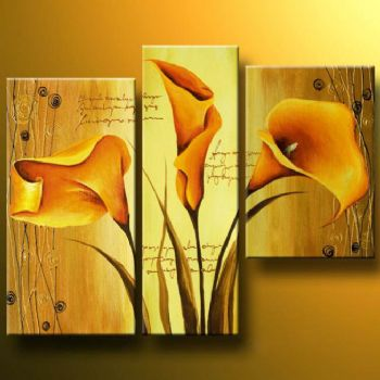 The Spell Of Gold-Modern Canvas Art Wall Decor-Floral Oil Painting Wall Art with Stretched Frame Ready to Hang
