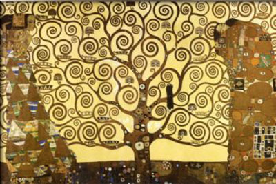 The Tree Of Life-Gustav Klimt oil painting-Floral Canvas Wall Art with Framed Ready to Hang