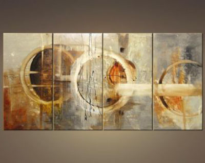 three signs of rain modern canvas art wall decor abstract oil