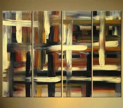 Traffic-Modern Canvas Art Wall Decor-Abstract Oil Painting Wall Art with Stretched Frame Ready to hang