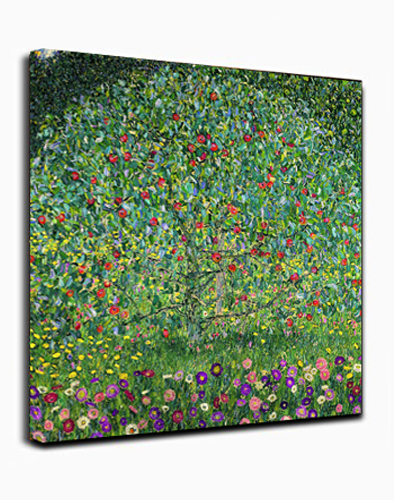 Canvas Wall Art Print Apple Tree by Gustav Klimt Abstract Painting Framed Ready to hang