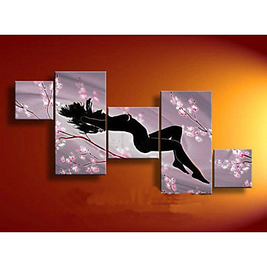 Plum Sexy Nude Women-Modern Canvas Art Wall Decor-Abstract Oil Painting Wall Art