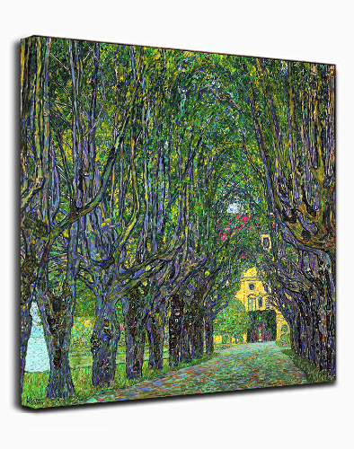Canvas Wall Art Print forest by Gustav Klimt Abstract Painting Framed Ready to hang