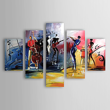 Musical Performance -Abstract Oil Painting Wall Art-Modern Canvas Wall Art with Stretched Frame Ready to Hang