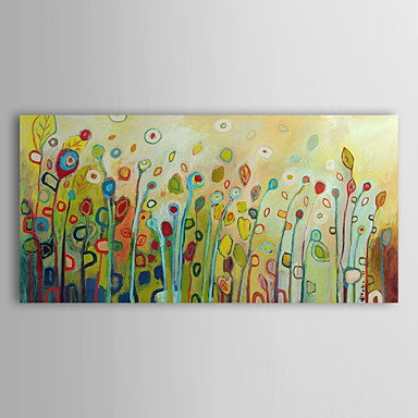 Abstract Flower Floral Oil Painting Wall Art with Stretched and Framed Ready to Hang