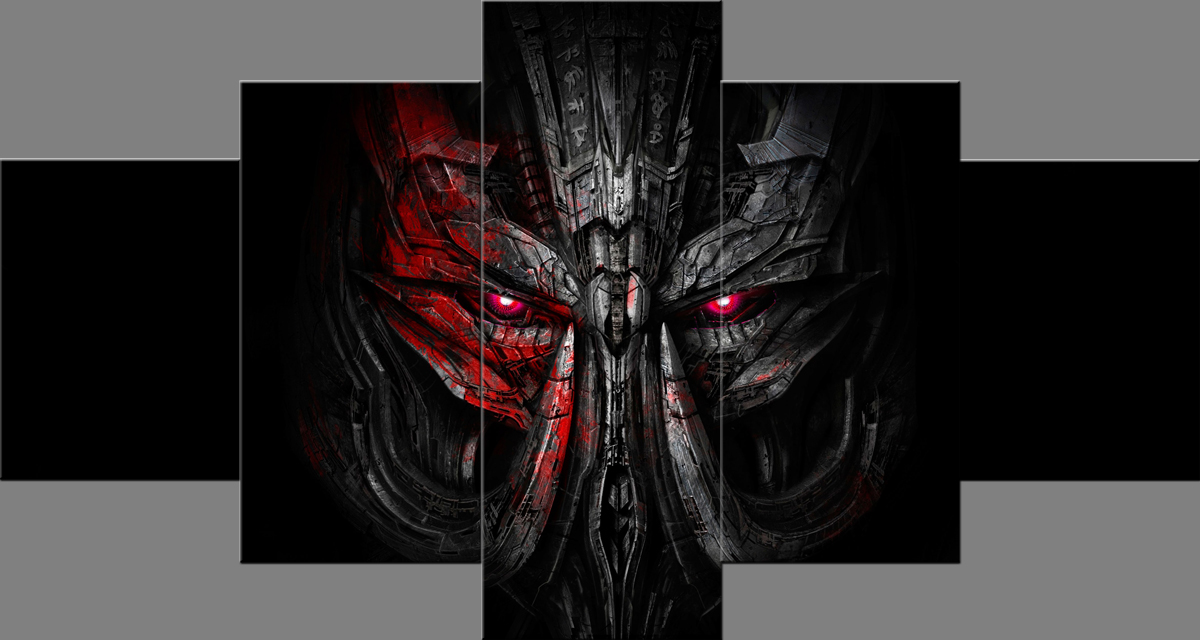 Megatron Transformers the Last Knight Paintings Wall Art Giclee Movie Canvas Prints Pictures Paintings on Canvas Stretched and Framed Ready to Hang