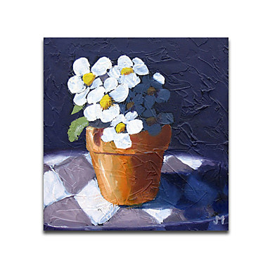 Flower And Vase-Modern Canvas Art Wall Decor-Floral Oil Painting Wall Art Stretched Frame Ready to Hang