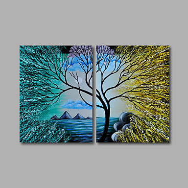The Cloud Tree -Landscape Oil Painting with Stretched and Framed Ready to Hang