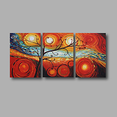 Life Trees-Modern Canvas Art Wall Decor-Floral Oil Painting Wall Art with Stretched Frame Ready to Hang