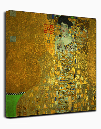 Canvas Wall Art Print women in gold by Gustav Klimt Abstract Painting Framed Ready to hang