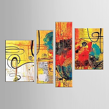 Colorful Image-Modern Abstract Oil Painting Canvas Wall Art with Stretched Frame Ready to Hang